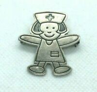 Vintage EFS Sterling Silver Brooch Nurse Pin Mexico Signed Medical Doctor Health
