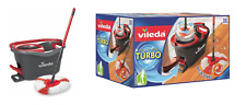 VILEDA Turbo Easy Wring and Clean Microfiber Mop + 6L Bucket Pedal Squeezer 2in1