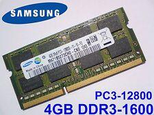 4GB DDR3-1600 PC3-12800 1600Mhz SAMSUNG M471B5273CH0-CK0 LAPTOP RAM MEMORY