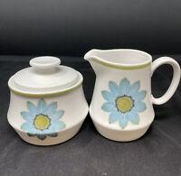 Vintage Noritake Progression Up-Sa Daisy Creamer & Sugar Bowl Mid Century