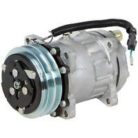 New OEM Sanden SD7H15 4709 8023 7862 AC Compressor & A/C Clutch 2-Groove