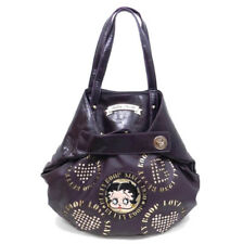 Betty Boop Purple Leather Buckle Tote Style Shoulder Purse