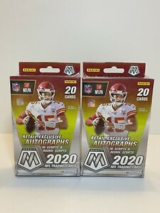 2020 PANINI Mosaic - (2) NFL Football Hanger Box - 20 Card Box - In Hand SEALED