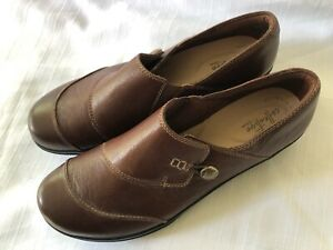 CLARKS Collection Slip On Shoe - Brown - Ultimate Comfort Women's size 12W
