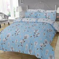Duvet Cover Set King Size Bedset Cotton Polyester Blue floral Design Bedding Set