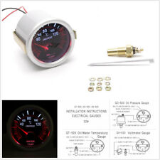 2'' 52mm Smoke Tint Lens Red Illuminated Needle Car Water Temp Temperature Gauge