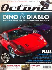 Octane magazine no.44 Ferrari 246 Dino Lamborghini Diablo Allard Jaguar XK E