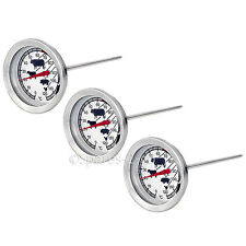 3 x Meat Poultry Food Thermometer BBQ Oven Temperature Cooking Stainless Probe