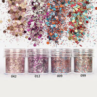 10ml/Box Nail Art Glitter Powder Pink Rose Red Mixed Sequins Decoration