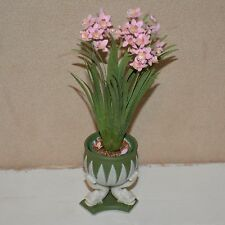 "Dollhouse miniature flowers 1:12 vase potted Vince Stapleton 5 5/8"" H"