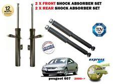 FOR PEUGEOT 607 9D 2000-> NEW 2 X FRONT + 2X REAR SHOCK ABSORBER SHOCKER SET