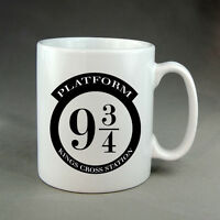 Harry Potter Platform 9 3/4 Mug Present Gift Wizards Hogwarts Ron Hermione