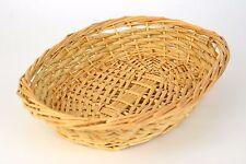 OVAL Wicker Basket 13 x 9-1/2 natural blonde color