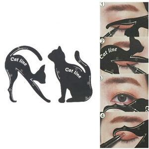 2pcs/set Cat Line maquillage outil eye-liner pochoirs gabarit modèle faço*wf