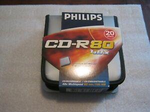 CD-ROM 80 Minuti/700 Mb 48X PHILIPS confezione 20 dischi con custodia Cerniera