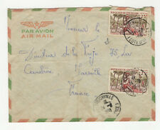 République de Côte-d'Ivoire 2 timbres sur lettre 1968 tampon Treichville  /L25