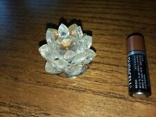 Cut Vintage Crystal Figurine Water Lilly with Aurora Borealis