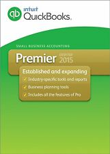 Quickbooks Premier 2015 (3 installs)- Includes free Pro & Accountant
