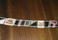 Vintage Embroidered Belt Steampunk Boho Festival Grateful Dead