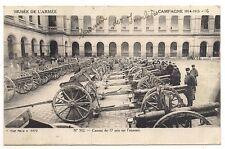 1914 1915 aux invalides canons de 77 pris sur l'ennemi