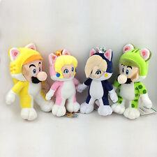 4X Super Mario 3D World Cat Mario Luigi Princess Peach Rosalina Soft Plush Toy