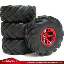 4pcs RC 2.2 Crawler Mud Tires Badland Tyres OD 135mm & 2.2'' Wheels Rim Hex 12mm