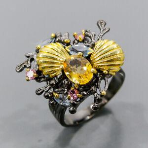 Handmade Citrine Ring Silver 925 Sterling  Size 7 /R172525