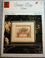 GARDEN AFTERNOON  Counted Cross Stitch Leaflet Summer Days Collectives #2