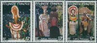 French Polynesia 1982 Sc#362-364,SG370-372 Polynesian Folklore set MNH