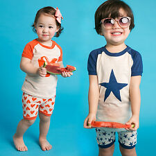 "Vaenait Baby Kids Girls Boys Clothes Short Pajama Outfit set ""Pumping"" 12M-7T"