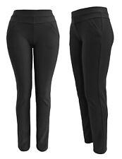 Stoffhosen für Damen mit Gummizug - Schlupfhosen mit Taschen - Stretchhose 40-48