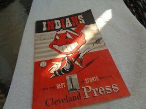 Antique Cleveland Indians Brochure/Pamphlet Score Booklet August 1950
