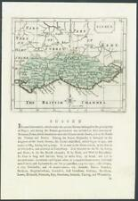 "c1787 Original Antique map by J SELLER ""SUSSEX"" with original hand colour (007)"