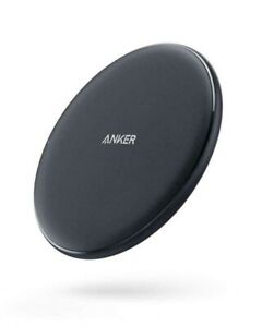 Anker Wireless Charger 10W Qi-Certified Pad Fast Charge Samsung Apple Compatible