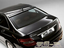 Painted Black C63AMG Look Trunk Spoiler w/ OE Roof Lip 08-11 W204 C300 C350 4Dr