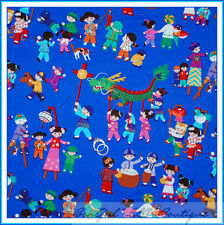 BonEful Fabric FQ Cotton Quilt Chinese New Year Dragon Asian Disney Small World