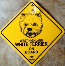 12cm Roadsign Schild + Saugnapf WEST HIGHLAND WHITE TERRIER warnschild hund