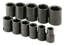 """IMPACT SOCKET 1/2"""" DR 11 PCS 6 POINTS FRACTION SAE 1/2"""" TO 1-1/8""""SK 4032 USA"""