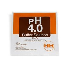 Solución de calibración en sobre HM Digital pH 4.0 20ml (PH-P4)