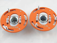 Camber Plates for BMW E36 3D Drift top mounts Front x2 - Domlager orange