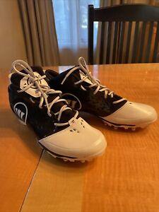 Warrior Adonis Lacrosse Cleats - Black on White -  Size 13D Mens ADONISBK
