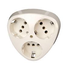 Kopp Schutzkontakt Steckdose Standard dreifach Schuko Mehrfachsteckdose Neuware