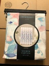 Cynthia Rowley Augustina Fabric Shower Curtain 72x72 Floral Multicolor New