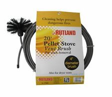 RUTLAND Pellet Vent/Dryer Vent Brush with Handle NEW! FREE USA SHIPPING! #17420