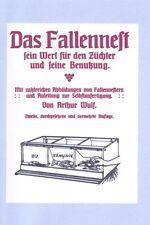 Das Fallennest Hühner Selbstversorgung Hühnerzucht Landwissen  ~1920 Reprint