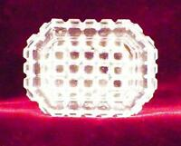 Antique Waffle Open Salt Cellar Dip Clear Pressed Glass Clear PATTERN MAKER HELP