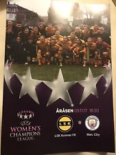 LSK Kvinner v Man City Women FC Programme (Season 2017-2018) Played: 09/11/2017