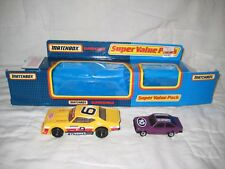 MIB Matchbox Value Pack 1983 Chevelle Chevy Pro Stocker & Purple Ford Escort #10