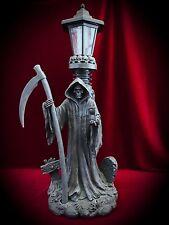 Grim Reaper Solar Outdoor Light-Gothic Fantasy Decor-Garden Patio Light Statue