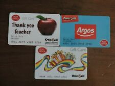 3 RARE POST OFFICE ONE4ALL GIFT CARDS .USED. NO VALUE. COLLECTORS ITEM.  LOT 7